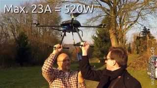 Walkera QR X800 - Messung mit Wattmeter
