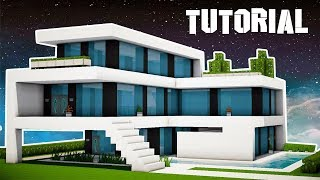 Minecraft: How to Build a Large Modern House Tutorial (EASY!)