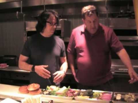 The Iron Chef Kerry Simon & Max Jacobson make burgers at KGB in Harrah's LV