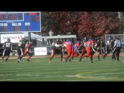 Football DCIAA Turkey Bowl Anacostia vs. Dunbar 11/22/2012