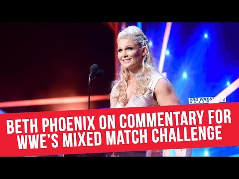 Beth Phoenix On Commentary for WWE's Mixed Match Challenge