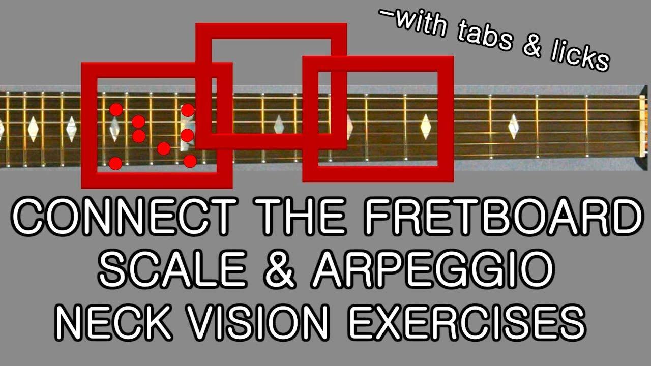 Killer Guitar Neck Navigation Connect scales & arpeggios exercises & licks