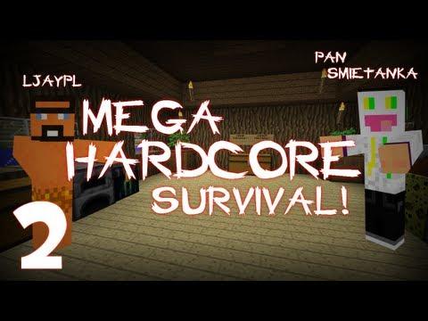 [#2] Minecraft - Pan Śmietanka z Jaskiniowcem - Mega Hardkorowy Survival - Gang Orpi