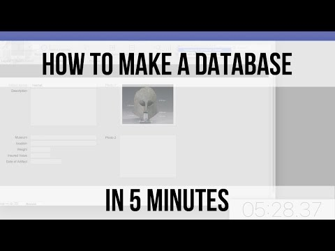 How to Make a Database in 5 Minutes | Free FileMaker 14 Videos | FileMaker Pro Training