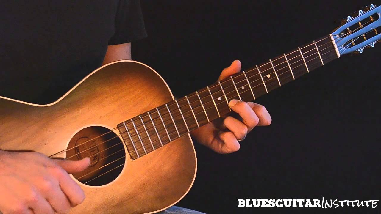 Simple Acoustic Blues Guitar Lick in E – Train Whistle Lick