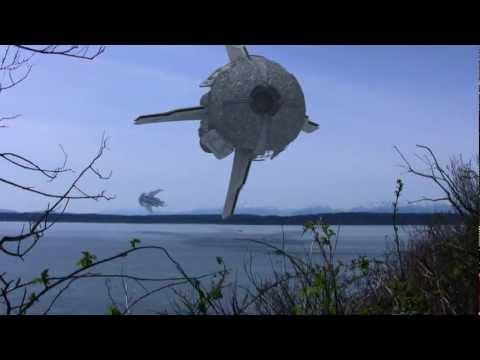 Alien spaceship CGI