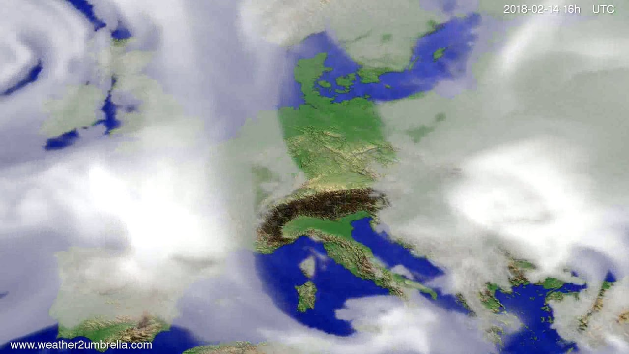 Cloud forecast Europe 2018-02-11