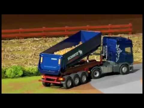 camion scania - Camión RC radio control SCANIA con remolque SCHMITZ Cargobull.