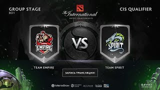 Team Empire vs Team Spirit, The International CIS QL [Eiritel]