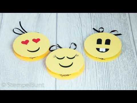 Smiley/Emoji Haftnotizen  mit Produkten von Stampin' Up!®(cm+inch)