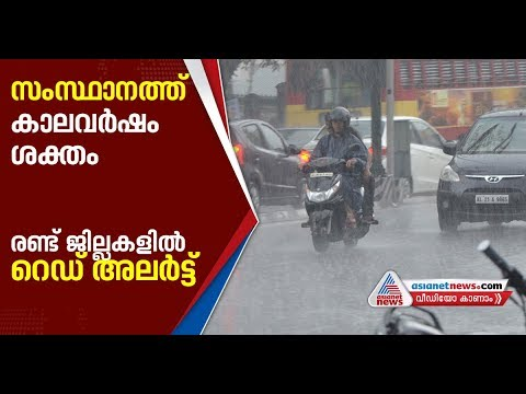 Heavy Rain in Kerala ; Red alert issued in two districts