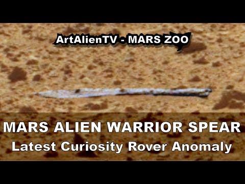 MARS Alien Warrior Spear & Humanoid Head: SMOKING GUN EVIDENCE. ArtAlienTV – MARS ZOO 1080p
