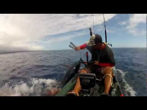 EXTREME KAYAK FISHING 75# YELLOW FIN TUNA  - kayak fishing, kayak photos, kayak videos