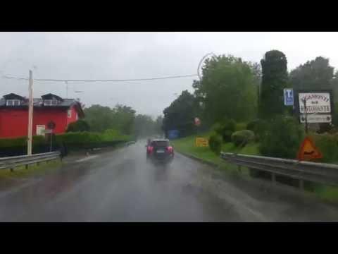 Il nuovo diluvio sul comasco: tanta acqua e strade come dei fiumi