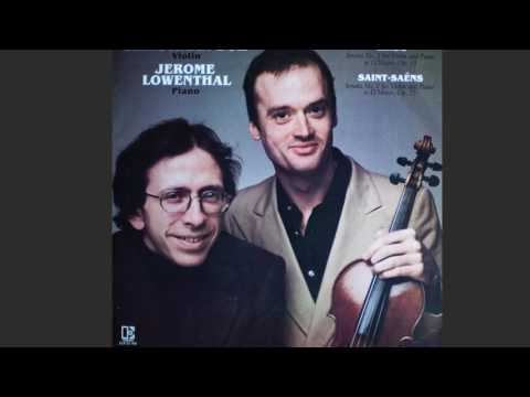 Christiaan Bor & Jerome Lowenthal SAINT-SAËNS  Sonata No.1 For Violin And Piano In D Minor, Op.75