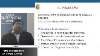 UTPL TOMA DE DECISIONES [(MAESTRÍA EN GERENCIA Y LIDERAZGO EDUCACIONAL)]