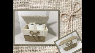 DIY Toilet Paper Storage (using Dollar Tree items)