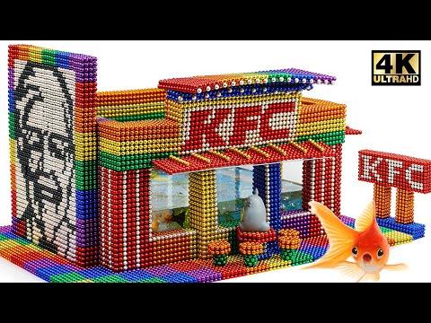 DIY - How To Build Amazing KFC Aquarium From Magnetic Balls (Satisfying)   Magnet World Series
