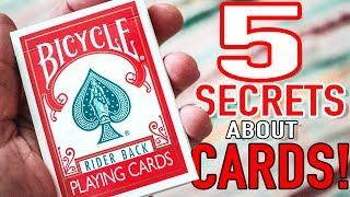 LEARN A TRICK I CREATED HERE: https://sellfy.com/p/OiqQ/THE BEST ROYALTY FREE MUSIC FOR YOUTUBERS!!: https://goo.gl/IZraELPlaying cards are innately magical. There is so much speculation to their origins and why they are arranged the way they are. Check out these crazy, five hidden features within a deck of cards that you may not know of! Not all of these are 100% accurate or true but they all make for a great story! Enjoy!CHECK OUT MY GAMING CHANNEL: https://www.youtube.com/channel/UCxR3TcpkooMIllA2b83kGAQ/featuredWhat I shoot with:My Main Camera: http://amzn.to/2l20aJsMain Lens: http://amzn.to/2lzpIeBMy Favorite LENS: http://amzn.to/2kQAJZmVLOG CAMERA :  http://amzn.to/2kQQwqKThe Mic I use: http://amzn.to/2kB3QBnLighting: http://amzn.to/2m16e3tEditing: Final Cut // Color FinaleFollow Me:Instagram: https://www.instagram.com/chrisramsay52Facebook: https://www.Facebook.com/deceivingisbelievingTwitter: https://www.twitter.com/chrisramsay52Website: https://www.chris-ramsay.comIF YOU WANT TO SEND ME STUFF:Chris RamsayCP 50011 BP. Galeries Des MontsSt-Sauveur, PQCanadaJ0R 1R0