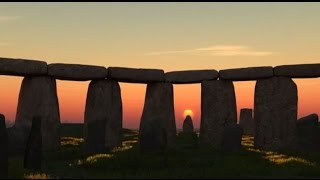 Famous Amazing  Sunset in ​ Stonehenge, Wiltshire