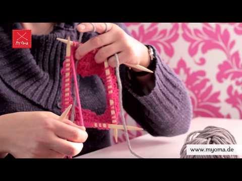 Stricken lernen mit den Omas – DIY Beanie Mütze für Anfänger 6/7: Farbwechsel
