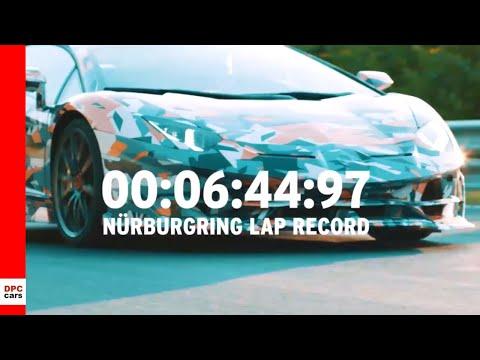 Lamborghini Aventador SVJ Nurburgring Lap Record