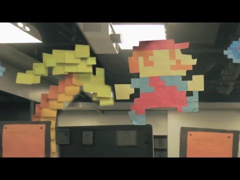FinalCutKing - Tweet: http://bit.ly/marios_world I'm on Facebook: https://www.facebook.com/thefinalcutking Mario comes to life with with thousands of Post It Notes in this ...