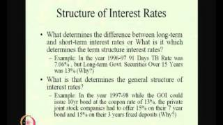 Mod-01 Lec-33 Interest Rate: Determination&Structure