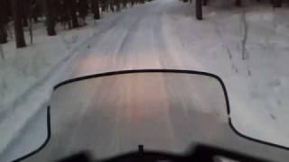 6. snowmobiling POV ski doo gtx 550