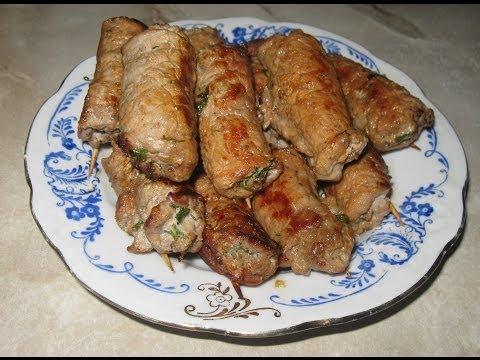 Пальчики свинины с начинкой рецепт фото