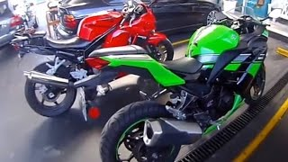 1. Hyosung Argentina Channel - GT250R vs Kawasaki Ninja 300 test - Top speed - Part 1