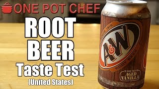 """Today I try Root Beer for the first time. This is a drink I've heard about in countless American TV shows and movies, but growing up in Australia, I've never had the chance to sample - until now! Will it live up to the hype? Watch and find out!Want to Taste Test this item yourself? Buy it here: http://go.magik.ly/ml/40xp/Subscribe to One Pot Chef (it's free!): http://bit.ly/SubOPCONE POT CHEF COOKBOOKS - PAPERBACKS AND EBOOKS:http://www.lulu.com/spotlight/onepotchefONE POT CHEF COOKBOOKS ON iTUNES BOOKSTORE:http://itunes.apple.com/au/artist/dav...ONE POT CHEF APRONS + T-SHIRTS NOW AVAILABLE!http://shop.studio71us.com/collection...Filmed in 4K using the Sony FDRAX100 Video Camera - Check it out here: https://goo.gl/iHLnHPFollow me on Social Media: Twitter: http://www.twitter.com/onepotchefFacebook: http://www.facebook.com/onepotchefInstagram: http://www.instagram.com/onepotchefshowMusic Credits: """"Call to Adventure"""" by Kevin MacLeodhttp://incompetech.comRoyalty Free Music - Used with Permission under Creative Commons license."""