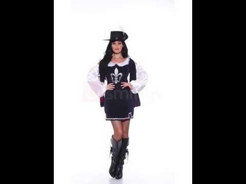Costume de mousquetaire noir pour femme