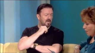 Ricky Gervais on The View HQ (4-13-2011)