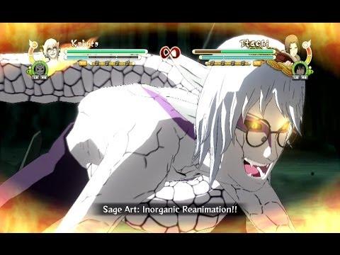 Naruto Ultimate Ninja Storm 3 Full Burst Sage Kabuto Complete Moveset with Command List