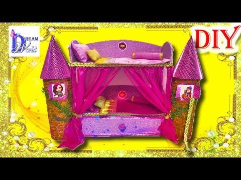 Как сделать кровать для куклы холли