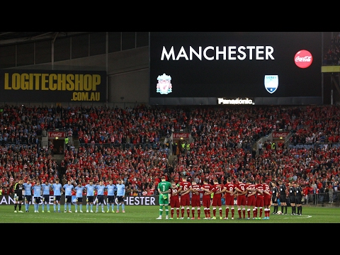 Liverpool And Sydney FC Hold Minute's Silence In Tribute To Victims Of Manchester Bombing