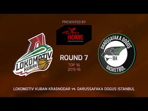 Highlights: Top 16, Round 7, Lokomotiv Kuban Krasnodar 82-58 Darussafaka Dogus Istanbul