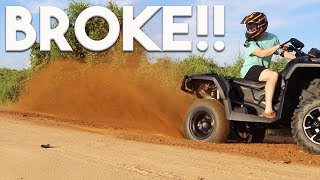 8. 2017 CAN-AM OUTLANDER 1000 XMR BROKE ALREADY!! ONLY 5HRS ON IT!!!