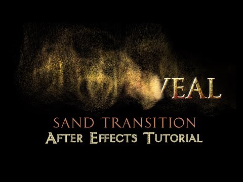 Text To Sand Transition - After Effects Tutorial (No Plugins)