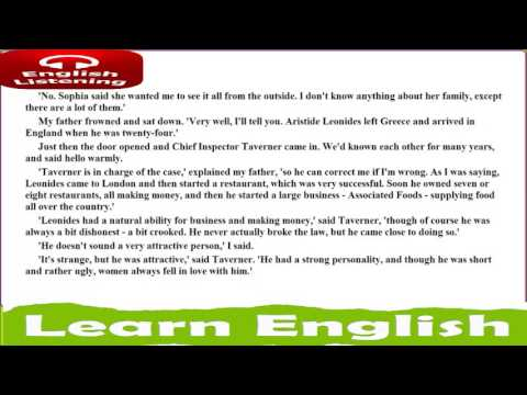 I learn english from a book   CROOKED HOUSE ● Agatha Christie   learn english quickly