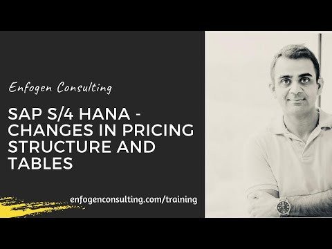 Changes in structure and tables with SAP S/4 HANA Pricing