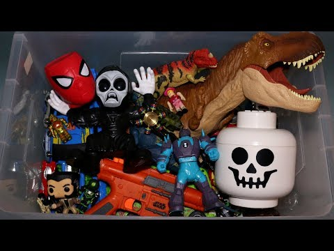 Box of Toys: Action Figures, Cars, Dinosaurs, Roblox and More
