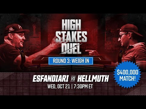 High Stakes Duel | Round 3 | The Weigh-In | Phil Hellmuth vs Antonio Esfandiari