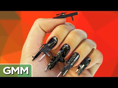 15 - We admire some extreme nail art. GMM#517! Good Mythical MORE: http://youtu.be/N4G4TOnLajc SUBSCRIBE for daily episodes: http://bit.ly/subrl2 **** PREVIOUS episode: http://youtu.be/2SLIrFz5NPk...