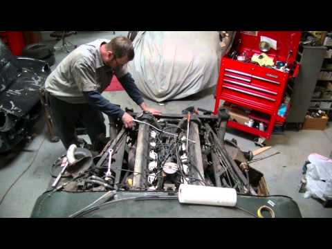 Removing Jaguar V12 Engine from 1974 Jaguar XKE – Gassman Automotive Products, Ltd.