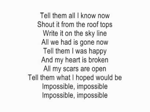 Impossible by Shontelle acoustic guitar instrumental cover with lyrics