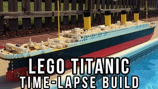"""Time-lapse construction of a seven foot LEGO model of the RMS Titanic. This model is 7'5"""" and weighs over 30 pounds.  It took 15 hours to make this model, and uses over 7000 bricks. (づ。◕‿‿◕。)づ (づ。◕‿‿◕。)づ (づ。◕‿‿◕。)づ (づ。◕‿‿◕。)3D  MODEL: http://www.hagermanships.comIMGUR  GALLERY:https://imgur.com/gallery/n9hWS"""