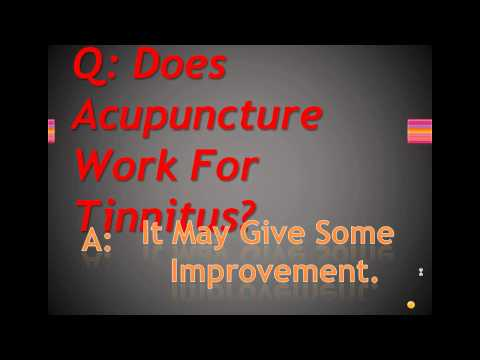 Does Acupuncture Work For Tinnitus?