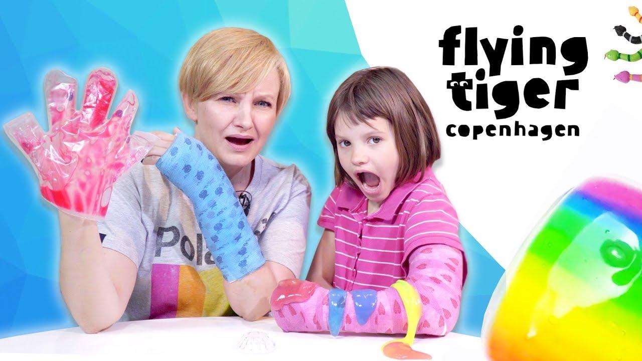 Gang Gipsiaków 😀 sprawdza slimy i gluty z Flying Tiger + Jak Amelka złamała rękę